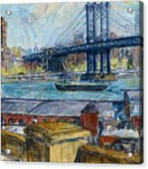 View From Brooklyn Bridge Acrylic Print