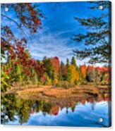 View From The Lock And Dam Trail Acrylic Print