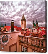 View From The Top In Prague Acrylic Print