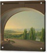 View From Wilhelmshohe Towards Kassel Acrylic Print