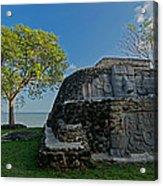 View Of Cerros Maya Ruins At Cerros Acrylic Print