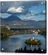 View Of Lake Bled From Ojstrica Acrylic Print