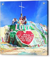 View Of Salvation Mountain Acrylic Print
