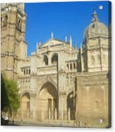 View Of Toledo Cathedral In Sunny Day, Spain. Acrylic Print