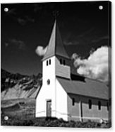 vik church Vik i Myrdal Iceland Acrylic Print