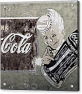 Vintage 1916 Hand Painted Coca Cola Sign Acrylic Print