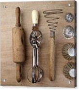 Vintage Cooking Utensils Acrylic Print