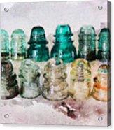 Vintage Glass Insulators Acrylic Print