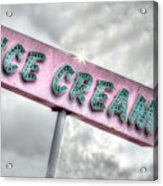 Vintage Ice Cream Sign Acrylic Print