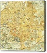 Vintage Map Of Athens Greece - 1894 Acrylic Print