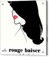 Vintage Paris Fashion Acrylic Print