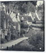 Vintage Photo Effect Medieval Arlington Row In Cotswolds Country Acrylic Print