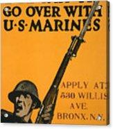Vintage Recruitment Poster Acrylic Print
