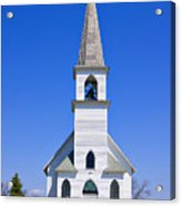Vintage White Church With Bell  Acrylic Print
