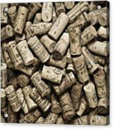 Vintage Wine Corks Acrylic Print by Frank Tschakert