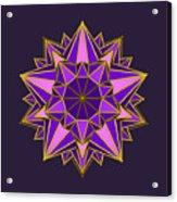 Violet Galactic Star Acrylic Print