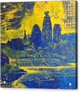 Vrindavan Spiritual Sky Acrylic Print