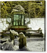 Waiting Out The Snow Acrylic Print