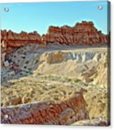 Wall Of Goblins On Carmel Canyon Trail In Goblin Valley State Park, Utah Acrylic Print