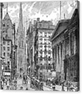 Wall Street, 1889 - To License For Professional Use Visit Granger.com Acrylic Print