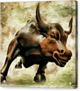 Wall Street Bull Vii Acrylic Print