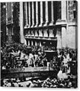 Wall Street Crash 1929 Acrylic Print