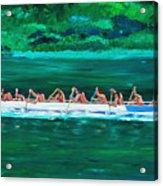 war canoe races 1977 Nooksack tribe Wa  Acrylic Print