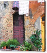 Washing Day Tuscany Acrylic Print