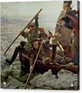 Washington Crossing The Delaware River Acrylic Print by Emanuel Gottlieb Leutze
