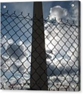 Washington Monument Through Fence Acrylic Print