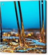 Water And Oil Acrylic Print by Setsiri Silapasuwanchai