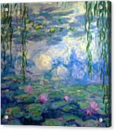 Water Lilies, Nympheas, By Claude Monet,  Musee Marmottan Monet, Acrylic Print
