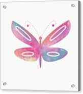 Watercolor Butterfly 2- Art By Linda Woods Acrylic Print