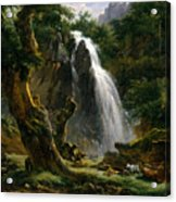 Waterfall At Mont-dore Acrylic Print
