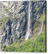 Waterfall In Geiranger Norway Acrylic Print