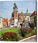 Wawel Cathedral In Krakow Acrylic Print