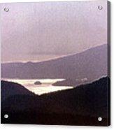 West Coast Mountain Sunset 2 Ae 24 Acrylic Print