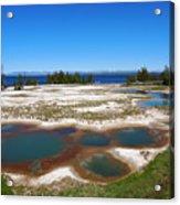 West Thumb Geyser Basin In Yellowstone National Park Acrylic Print