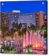 Westin Hotel Long Beach Acrylic Print
