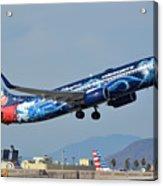 Westjet Boeing 737-8ct C-gwsz Magic Plane Phoenix Sky Harbor January 22 2016 Acrylic Print