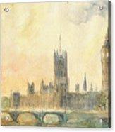 Westminster Palace And Big Ben London Acrylic Print