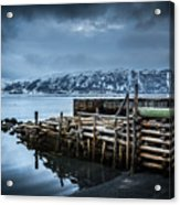 Wharf In Norris Point, Newfoundland Acrylic Print