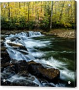 Whitaker Falls In Autumn Acrylic Print