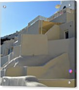 White Architecture In The City Of Oia In Santorini, Greece Acrylic Print