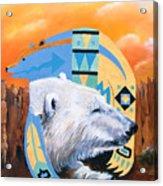 White Bear Goes Southwest Acrylic Print