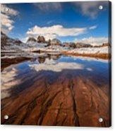 White Pocket Northern Arizona Acrylic Print
