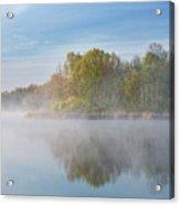 Whitford Lake In Fog Acrylic Print