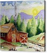 Wilderness Cabin Acrylic Print
