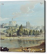 Windsor Castle From The Eton Shore Acrylic Print