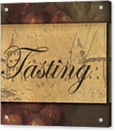 Wine Tasting Collage  Acrylic Print by Grace Pullen